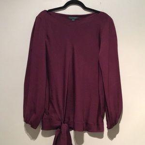 Lauren Ralph Lauren   100% Silk Tie Bottom Top